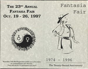 Fantasia Fair Awards Banquet Program (October 19-26, 1997)
