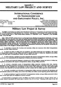 Appendix 4: Military Law Project and Survey