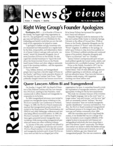 Renaissance News & views, Vol. 11 No. 9 (September 1997)