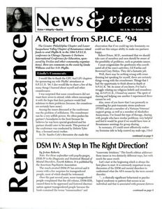 Renaissance News & Views, Vol 8. No. 10 (October 1994)