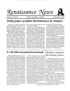 Renaissance News, Vol. 4 No. 9 (September 1990)