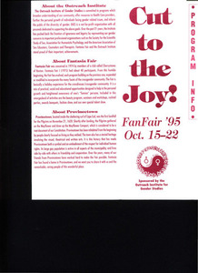 Cut to the Joy! FanFair (Oct. 15 - 22, 1995)