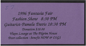 1996 Fantasia Fair Fashion Show Ticket