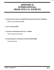 Appendix K: International: From Non-U.S. Sources