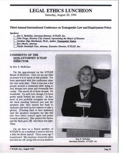 Legal Ethics Luncheon (Aug. 20, 1994)