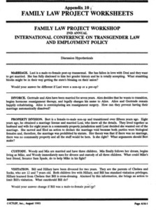Appendix 10: Family Law Project Worksheets