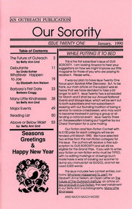 Our Sorority Issue 21 (January 1990)