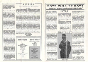 Boys Will Be Boys, No. 10 (December, 1992)