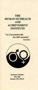 Brochure for the Human Outreach and Achievement Institute