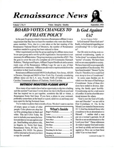 Renaissance News, Vol. 7 No. 9 (September 1993)