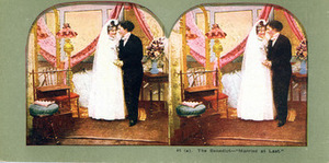 Stereoscopic Card of an All-Female Marriage