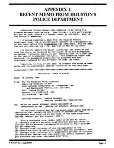 Appendix L: Recent Memo from Houston's Police Department