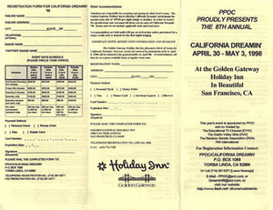 PPOC Proudly Presents the 8th Annual California Dreamin' (April 30- May 3, 1998)