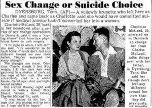 Sex Change or Suicide Choice