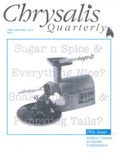 Chrysalis Quarterly, Vol. 1 No. 3 (Winter, 1992)