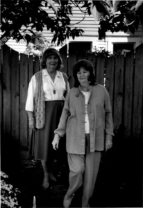 Alison and Dottie Laing Pose Outside (1)
