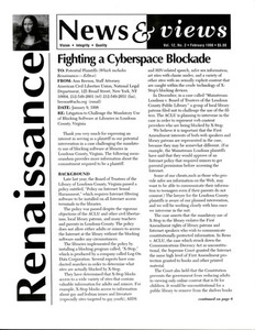 Renaissance News & Views, Vol. 12 No. 2 (February 1998)