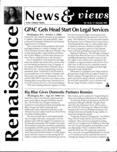 Renaissance News & Views, Vol.10 No.11 (November 1996)