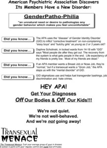 Hey APA! Get Your Diagnoses Off Our Bodies & Off Our Kids! Flyer