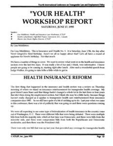 """Your Health"" Workshop Report"