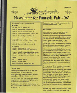 Fantasia Fair: Newsletters