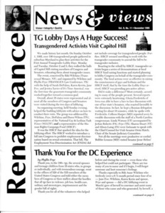 Renaissance News & Views, Vol. 9 No. 11 (November 1995)