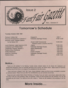 Fan Fair Gazette, Issue 2 (October 21, 1991)