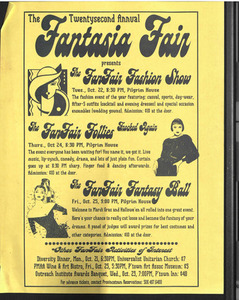 The Twentysecond Annual Fantasia Fair presents: The FanFair Fashion Show, The FanFair Follies, and The FanFair Fantasy Ball