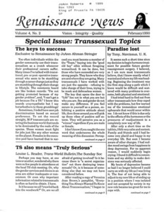 Renaissance News, Vol. 4 No. 2 (February 1990)
