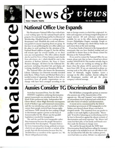 Renaissance News & Views, Vol. 9 No. 1 (January 1995)