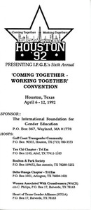 Coming Together - Working Together Convention Brochure (Apr. 6-12, 1992)