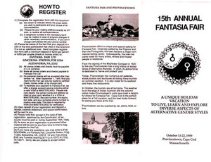 15th Annual Fantasia Fair Brochure (Oct.13-22, 1989)