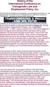 History of the International Conference on Transgender Law and Employmeny Policy, Inc.