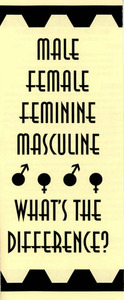 Male Female Feminine Masculine: What's the Difference?