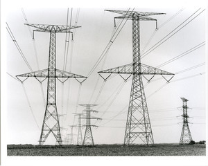 High tension wires in field
