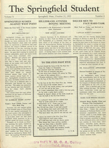 The Springfield Student (vol. 10, no. 4), October 22, 1920