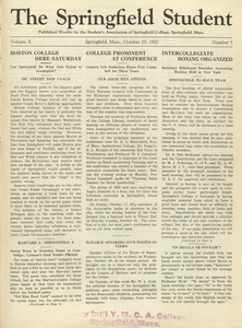 The Springfield Student (vol. 10, no. 5), October 29, 1920