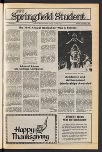 The Springfield Student (vol. 98, no. 9) Nov. 15, 1984