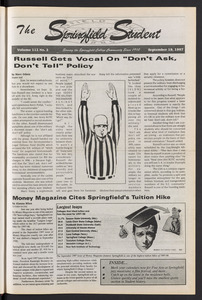 The Springfield Student (vol. 112, no. 2) Sept. 19, 1997