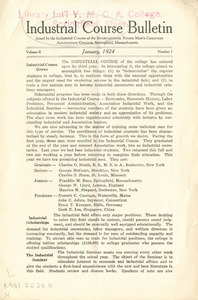 Industrial Course Bulletin (Vol. 2, No. 1), January 1924