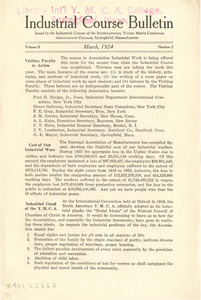 Industrial Course Bulletin (Vol. 2, No. 2), March 1924