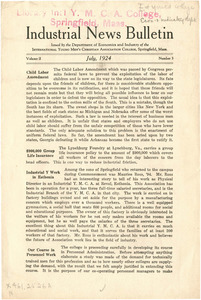 Industrial Course Bulletin (Vol. 2, No. 3), July 1924