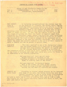 Industrial Course Newsletter (Vol. 1, No. 3), July 1923