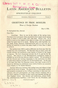 Latin American Bulletin (Vol. 2, No. 1) May 1926