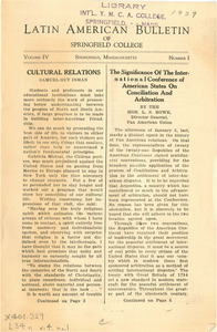 Latin American Bulletin (Vol. 4, No. 1) 1929