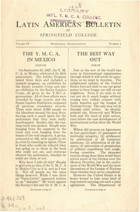 Latin American Bulletin (Vol. 3, No. 1) 1928