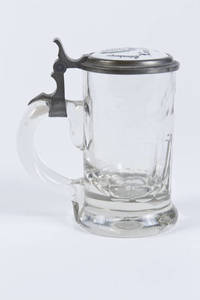 Blown Glass Stein with 4F Symbol on Porcelain Lid