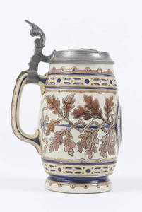 Etched Mettlach stein with 4F shield