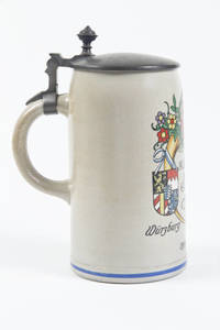 A stoneware stein for 14th Bavarian Turnfest held in Wurzburg in 1912