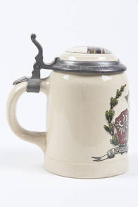 A stoneware stein for the Frankfurt Turnfest, 1908